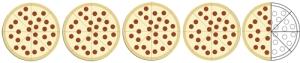 4.5 pizza slices